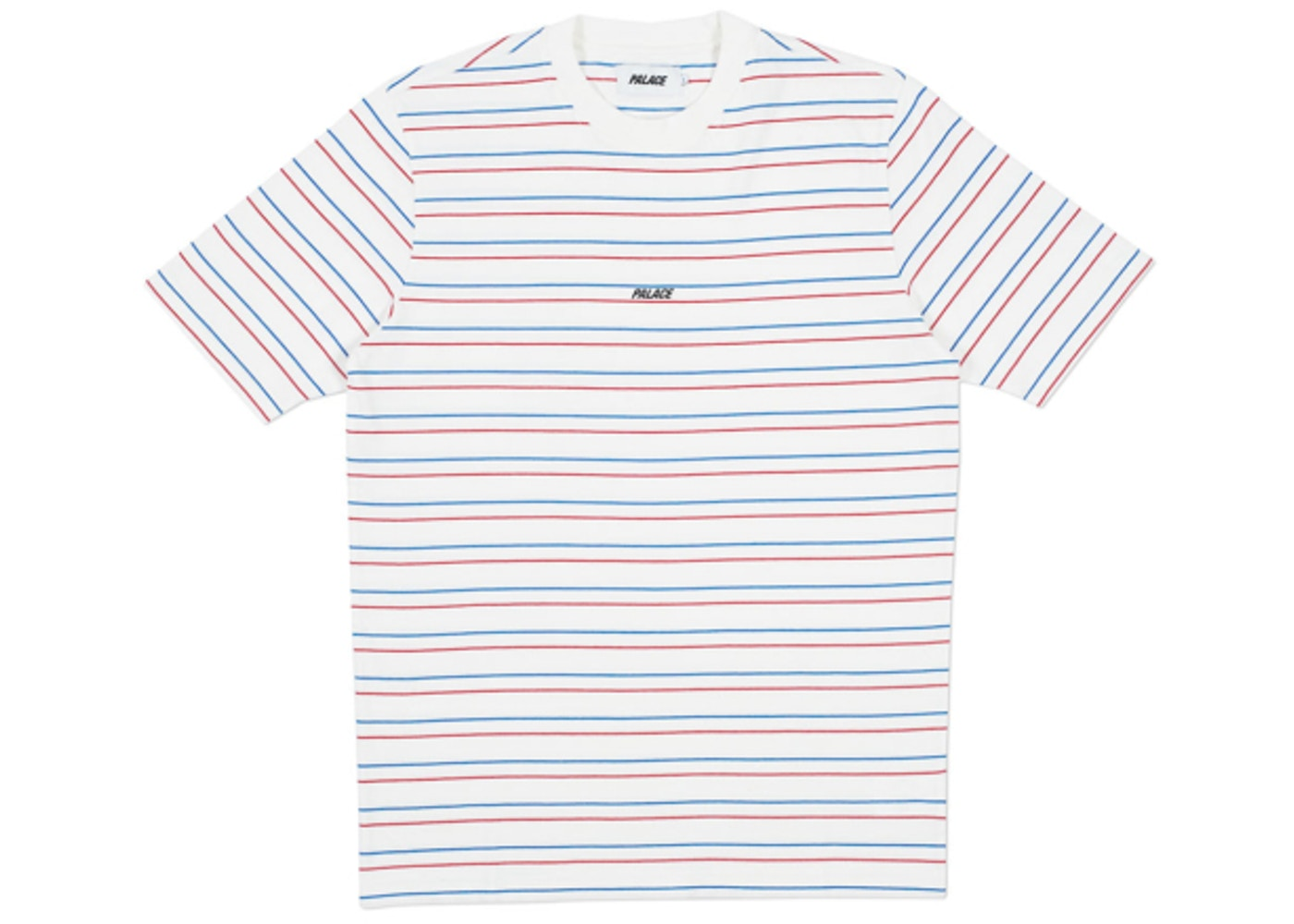 2d60da666a Palace Basically a Stripe T-Shirt White/Blue/Red - Spring 2018