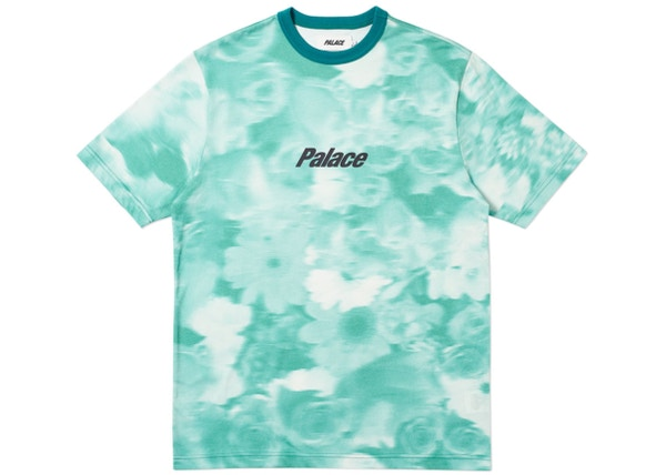 573b04c98ad75f Palace Blurry Flower Ringer T-Shirt Green