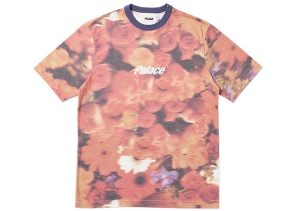 188150b0855176 Palace Blurry Flower Ringer T-Shirt Orange