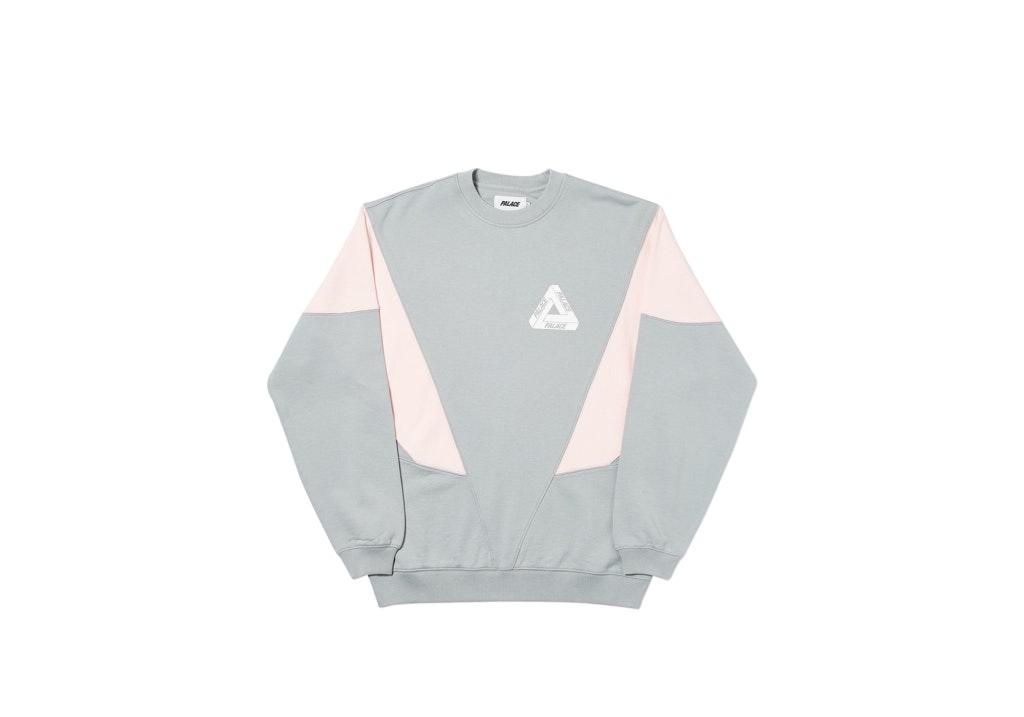Palace Droppeth Crew Grey/Pink
