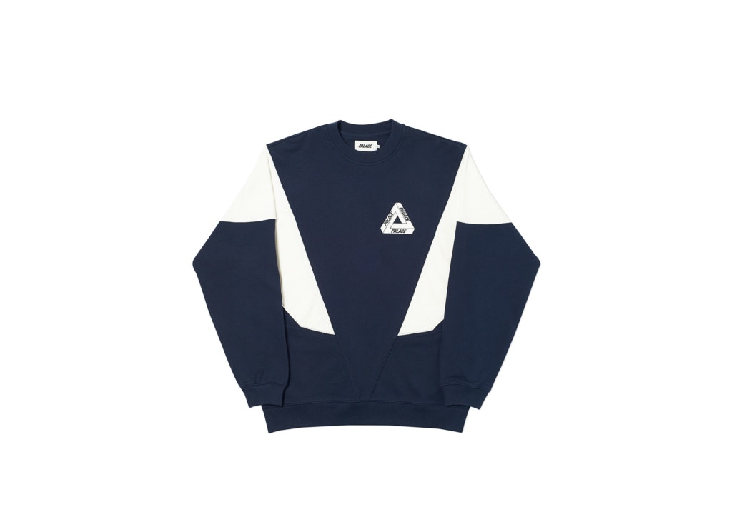 Palace Droppeth Crew Navy/White