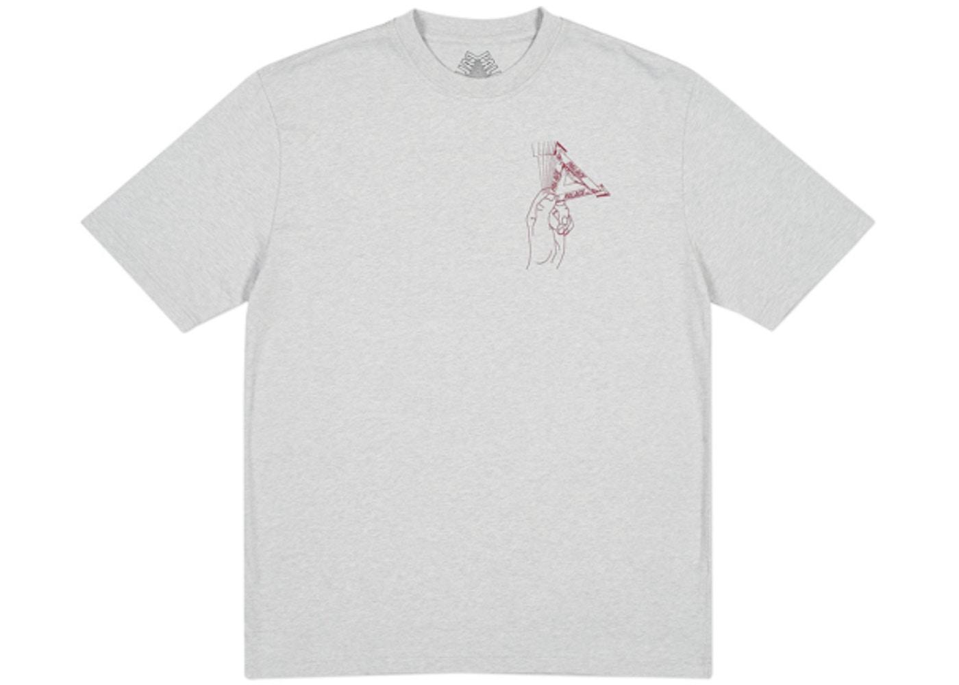 192194b7 Palace Grand Master T-Shirt Grey Marl. Grand Master