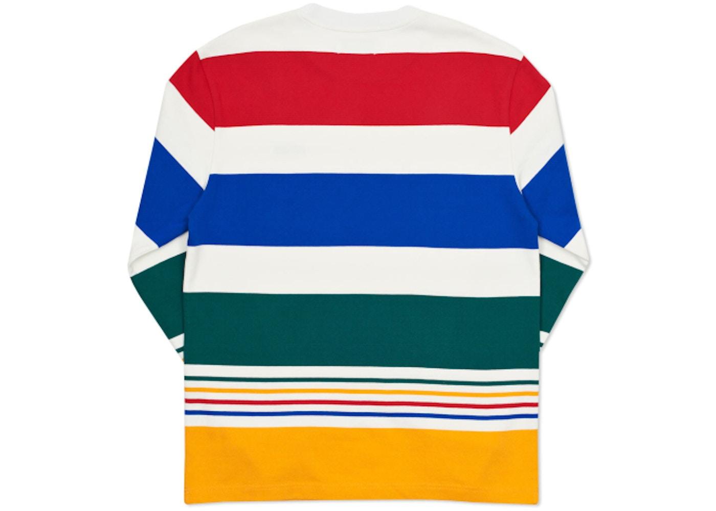 dc622d41b0db Palace Heavy Stripe L S T-Shirt White Multi - Summer 2016