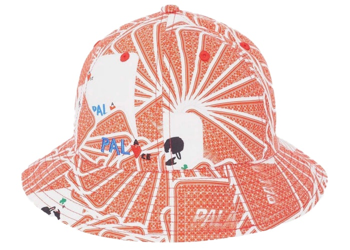 Palace JCDC Cards Bucket Hat Red
