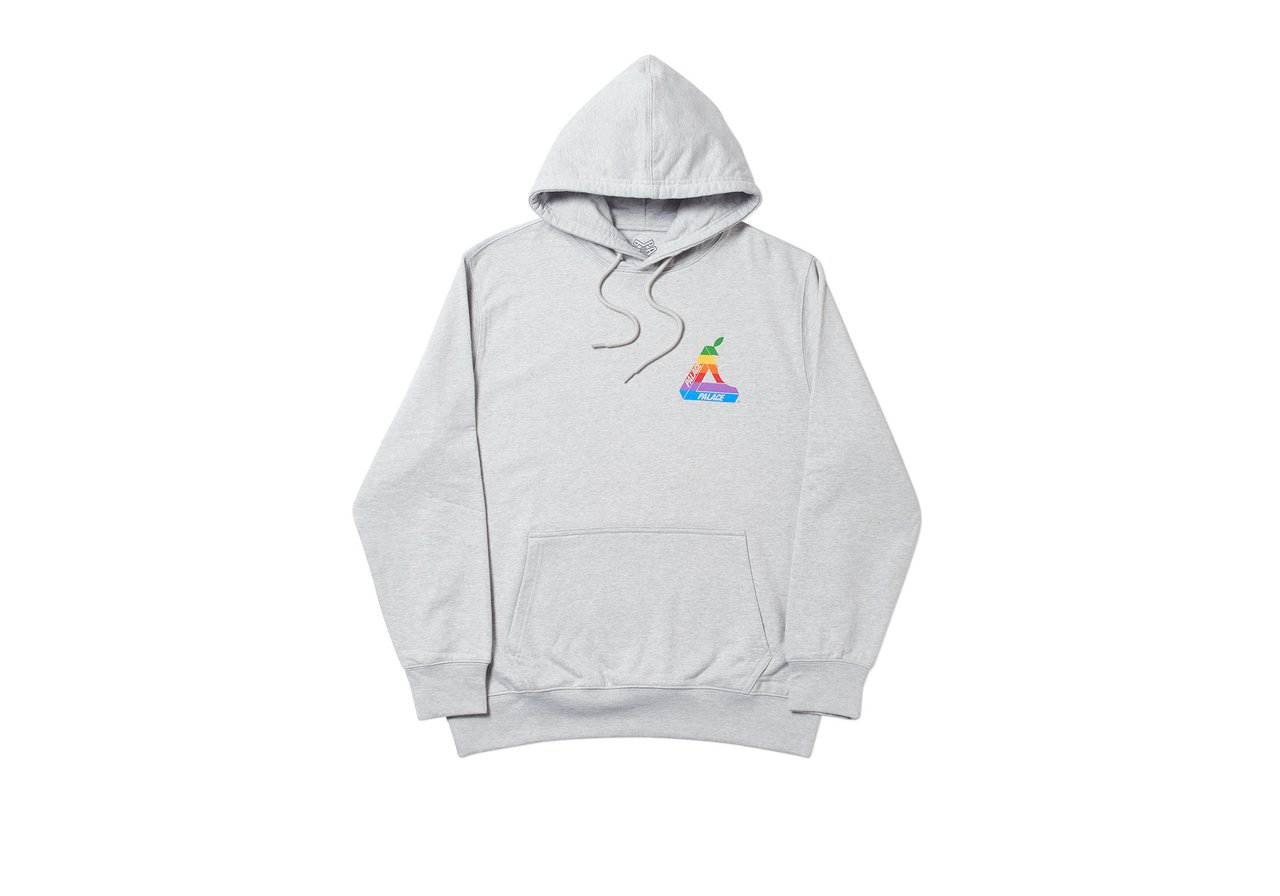 Palace Jobsworth Hood Grey Marl