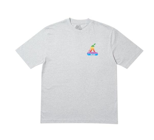 Palace Jobsworth T-Shirt Grey Marl