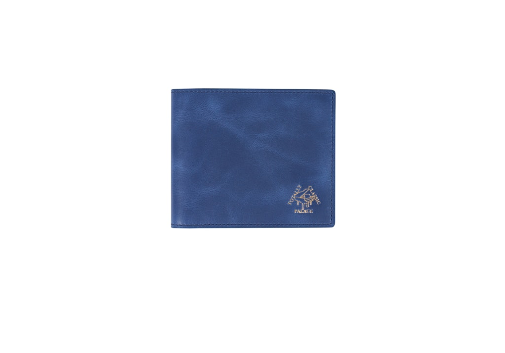 Palace Leather Billfold Wallet Blue