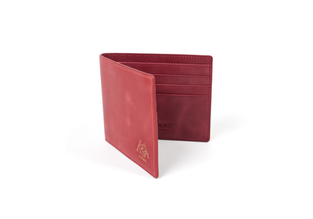 Palace Leather Billfold Wallet Red