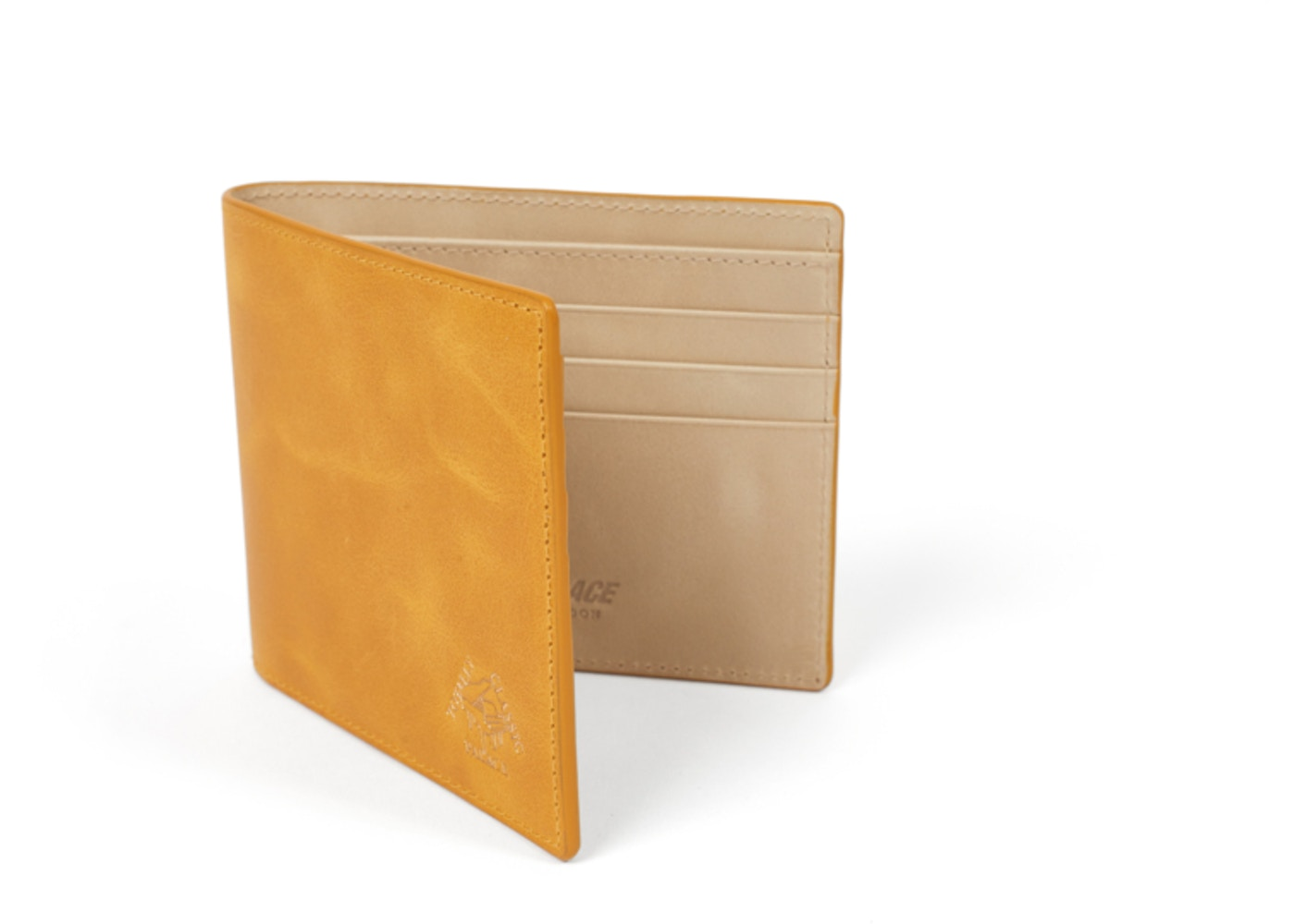 adf2b40e Palace Leather Billfold Wallet Yellow - SS19
