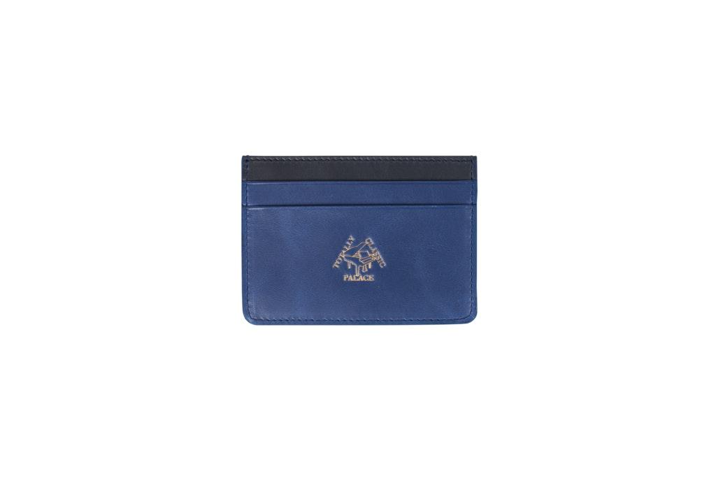 Palace Leather Cardholder Blue