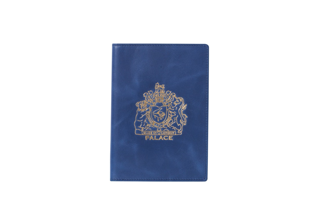 Palace Leather Passport Case Blue