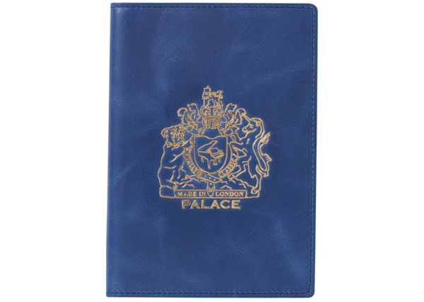 c7e59c3a Palace Leather Passport Case Blue - SS19