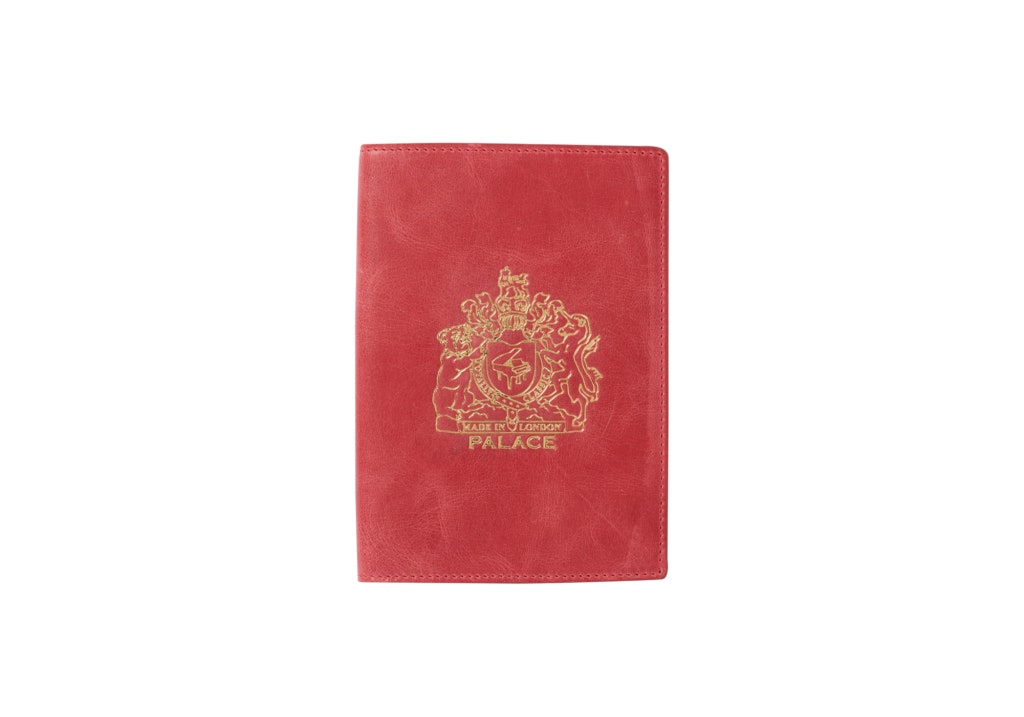 Palace Leather Passport Case Red