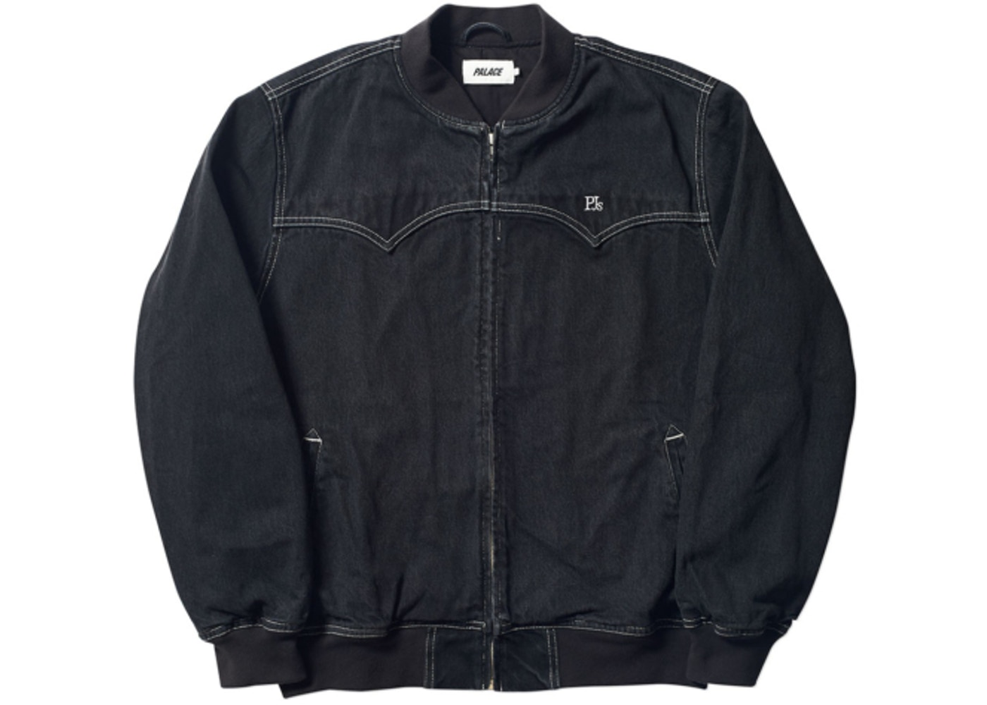 1e57f2114 Palace Jeans Bomber Black Stone Wash