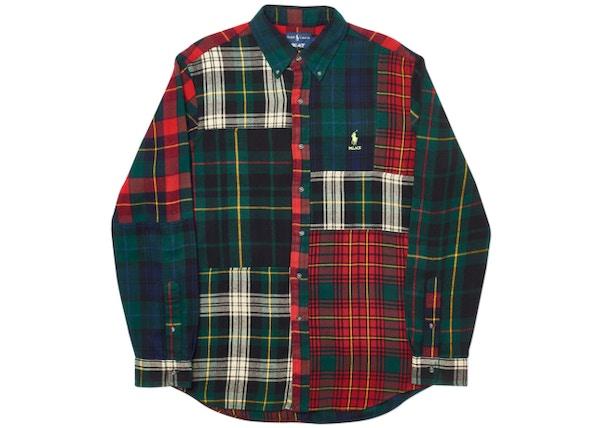 452e9e987bec Palace Ralph Lauren BD Shirt Pieced Flannel Plaid Multi