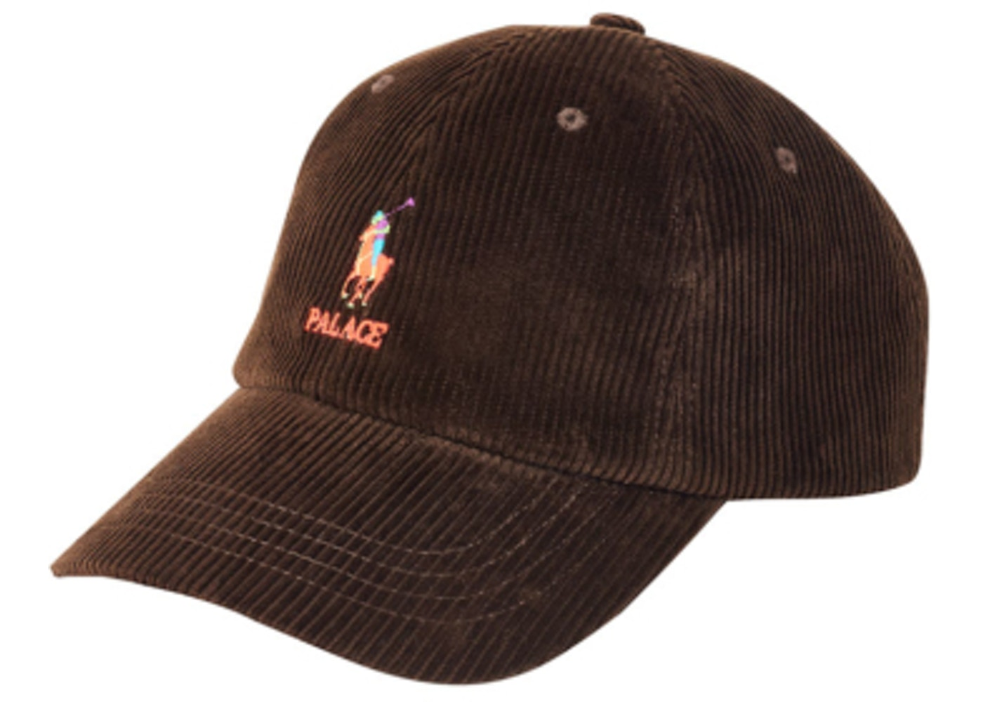 Palace Ralph Lauren Corduroy Classic Polo Cap Mohican Brown - FW18 afd0178d792