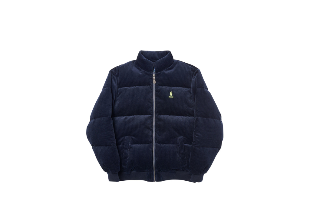 Palace Ralph Lauren Corduroy Down Jacket Aviator Navy