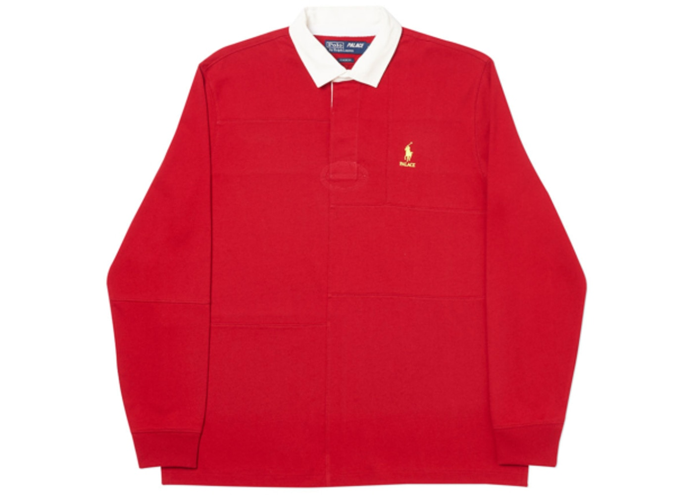 5b44f2ea Palace Ralph Lauren Pieced Rugby Park Avenue Red - FW18