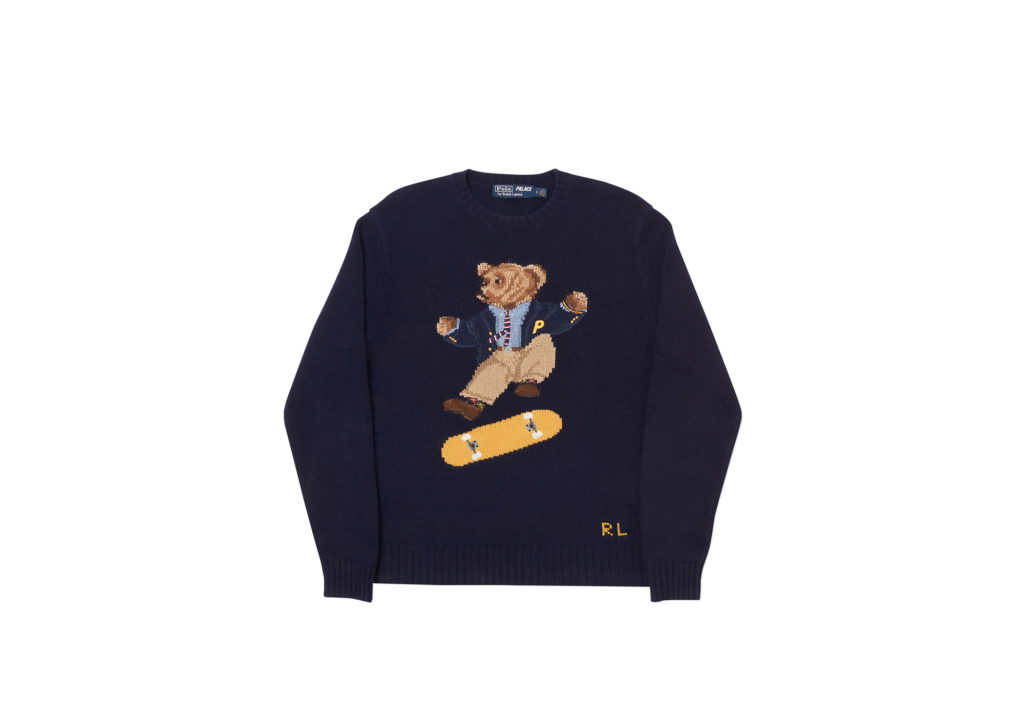 Palace Ralph Lauren Skate Polo Bear Sweater Aviator Navy