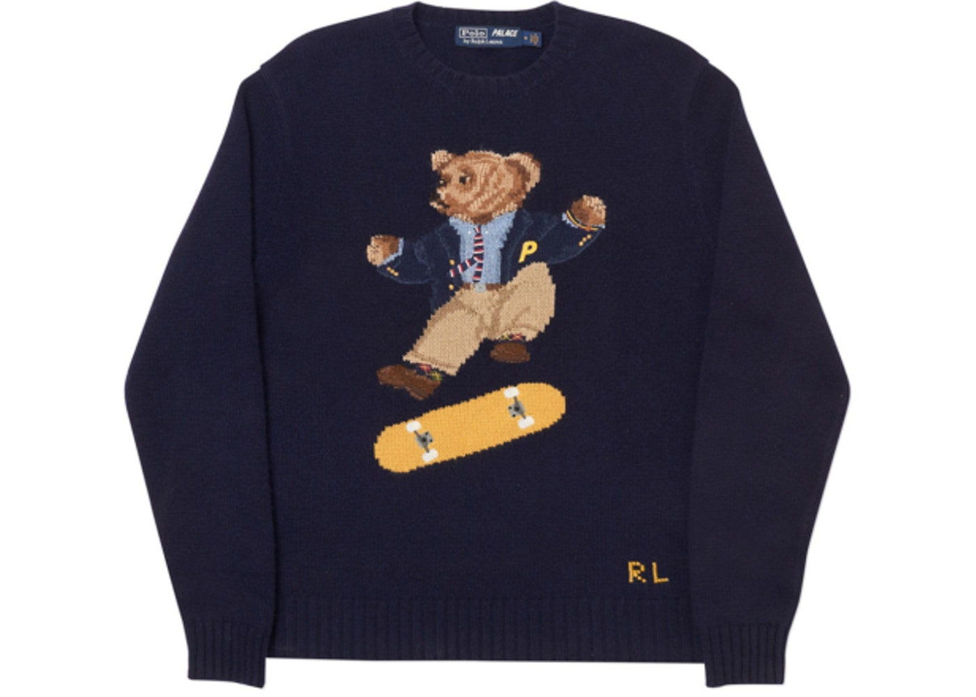 911a8d4f1 Palace Ralph Lauren Skate Polo Bear Sweater Aviator Navy - FW18