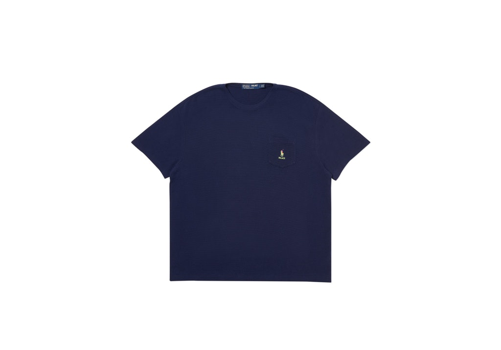 Palace Ralph Lauren Waffle Pocket Tee French Navy
