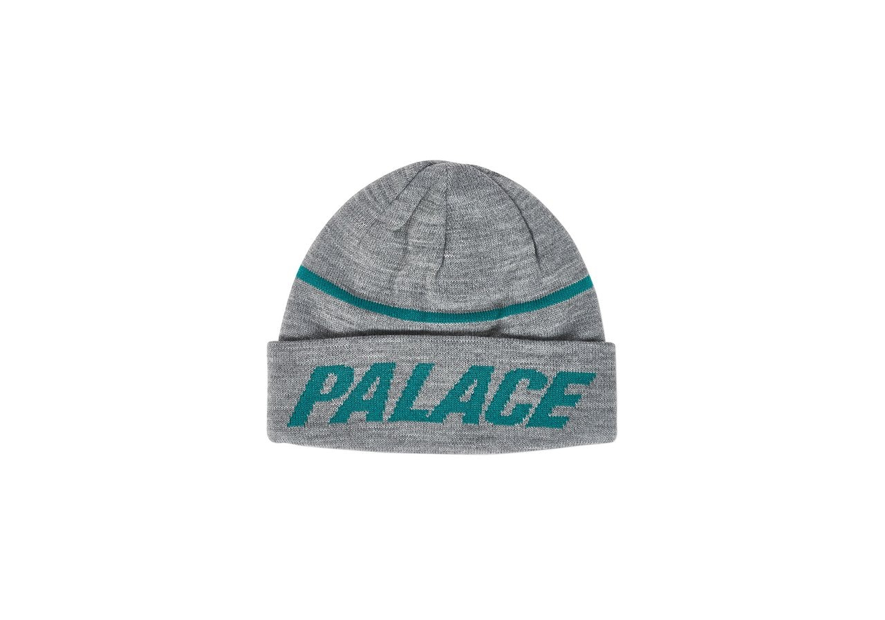 Palace Reversible Beanie Grey Marl/Green
