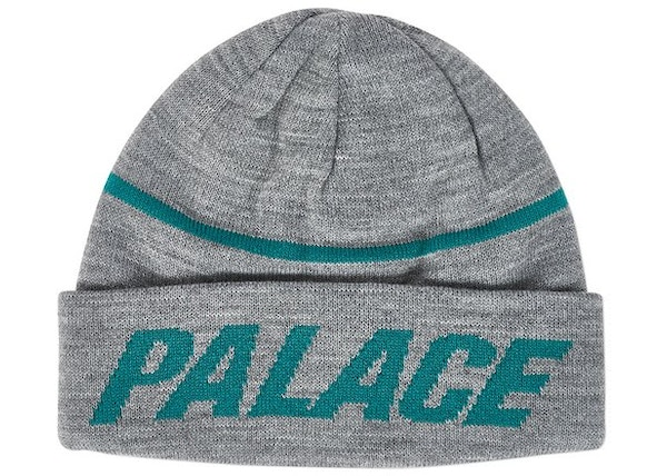 91ce6487369 Palace Reversible Beanie Grey Marl Green