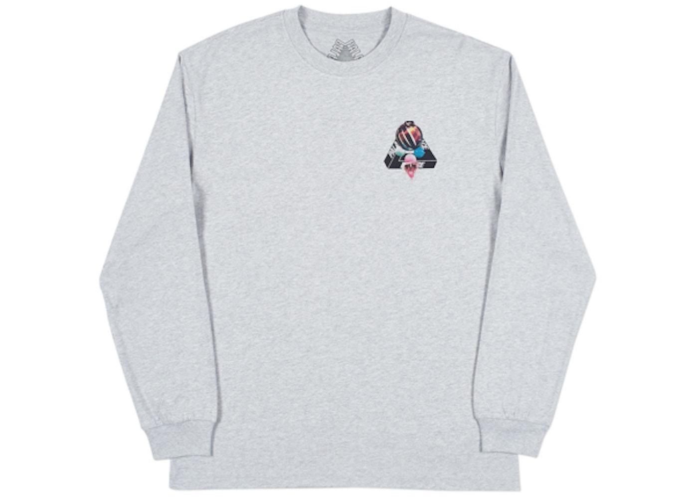 cfdea37d56 Palace Sans Ferg Longsleeve T-Shirt Grey Marl - SS18