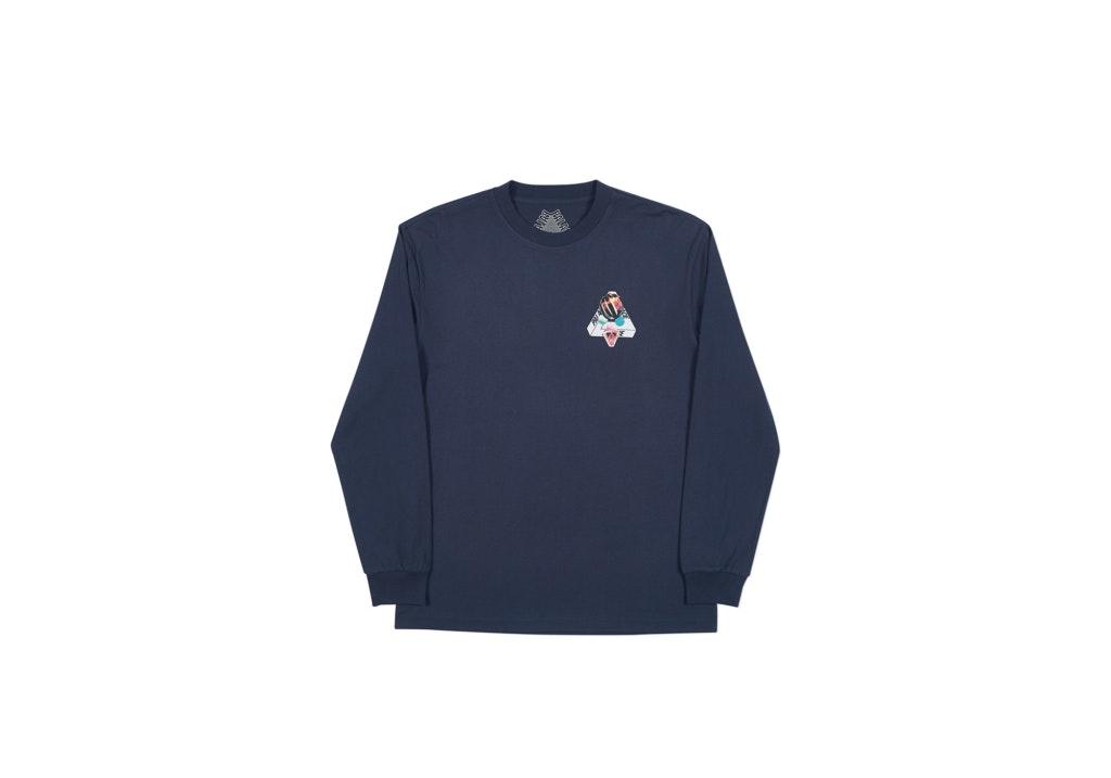 Palace Sans Ferg Longsleeve T-Shirt Navy