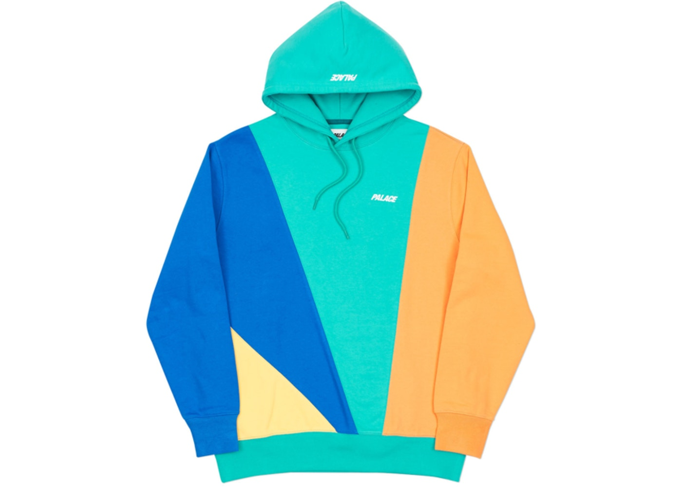 Palace Section Hood Green/Blue/Orange