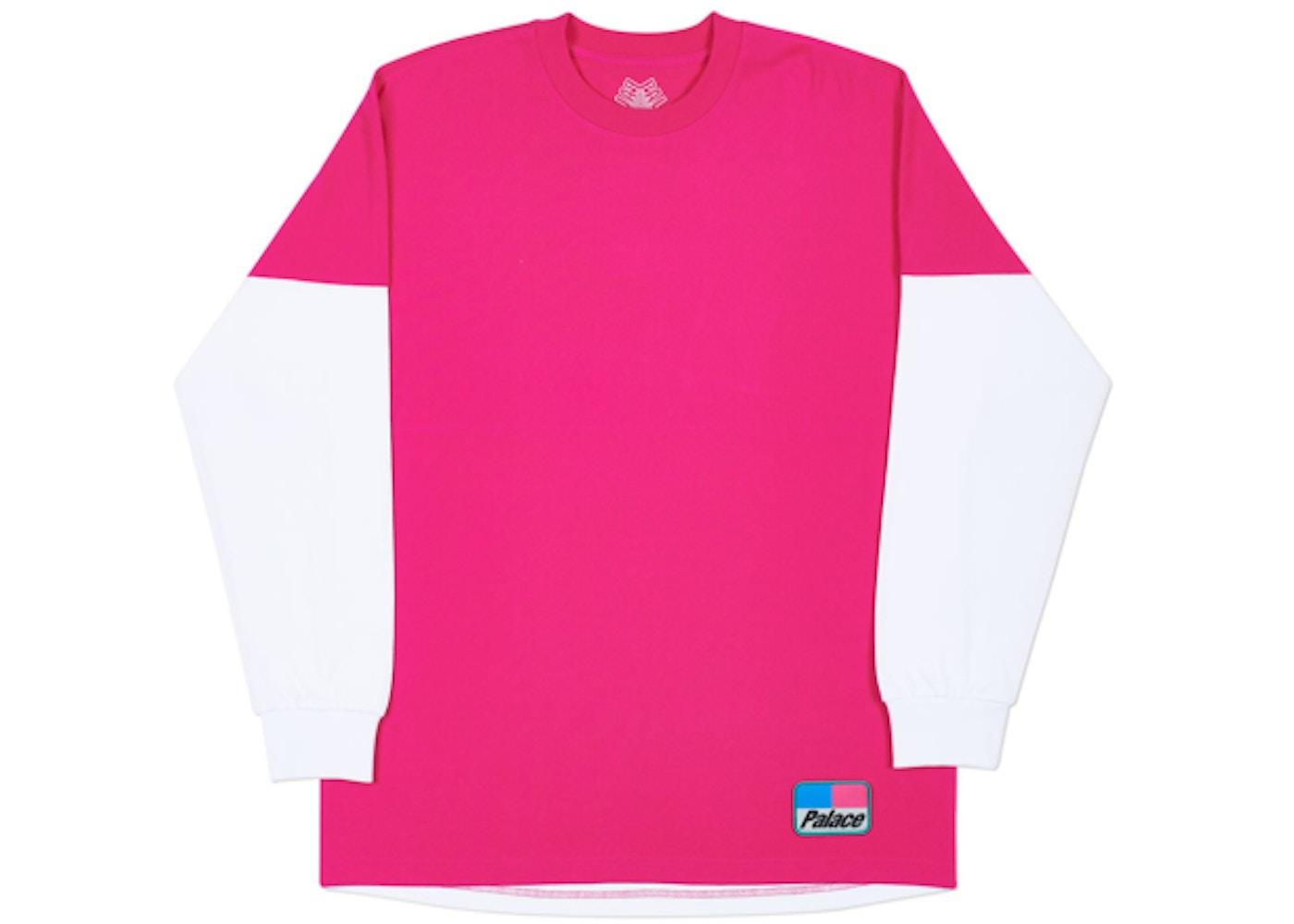 5d9df6e1 Palace Splitter Longsleeve Hot Pink/White - Spring 2018