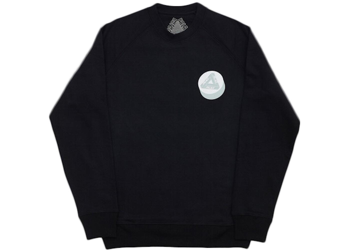 987ae1e04 Palace Tablet Crewneck Sweatshirt Black. Tablet Crewneck