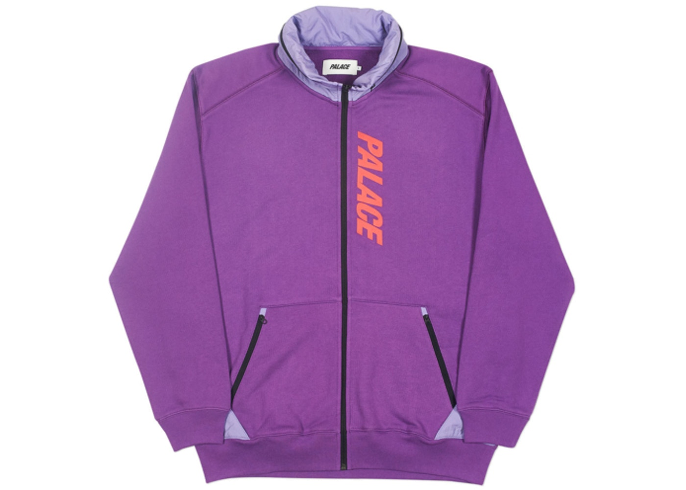 photos officielles 80003 88df4 Palace Techno Zip Sweat Purple - FW18