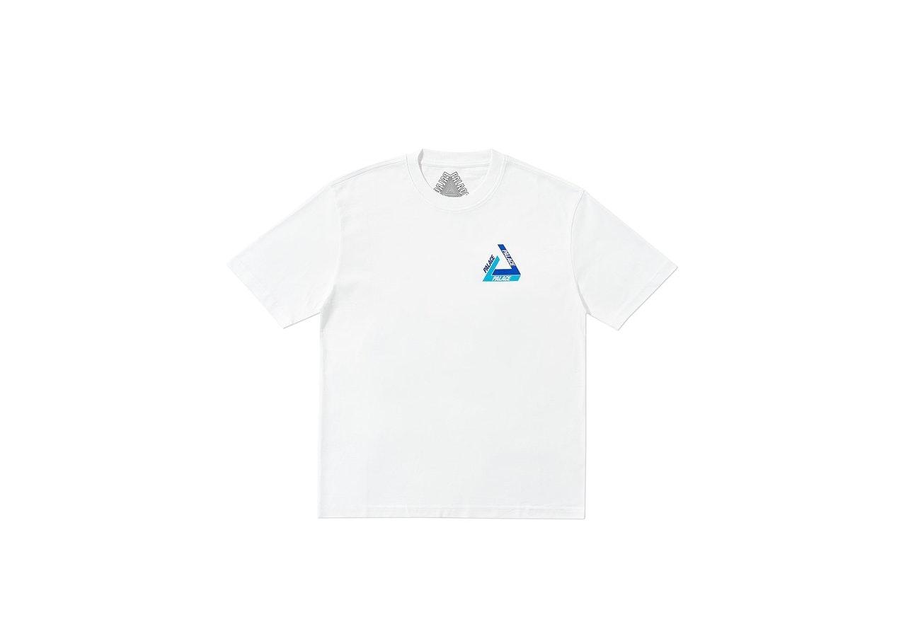 Palace Tri-Shadow T-Shirt White/Blue
