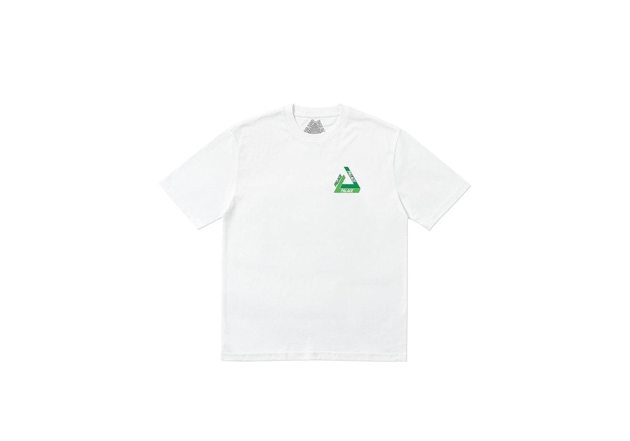 Palace Tri-Shadow T-Shirt White/Green