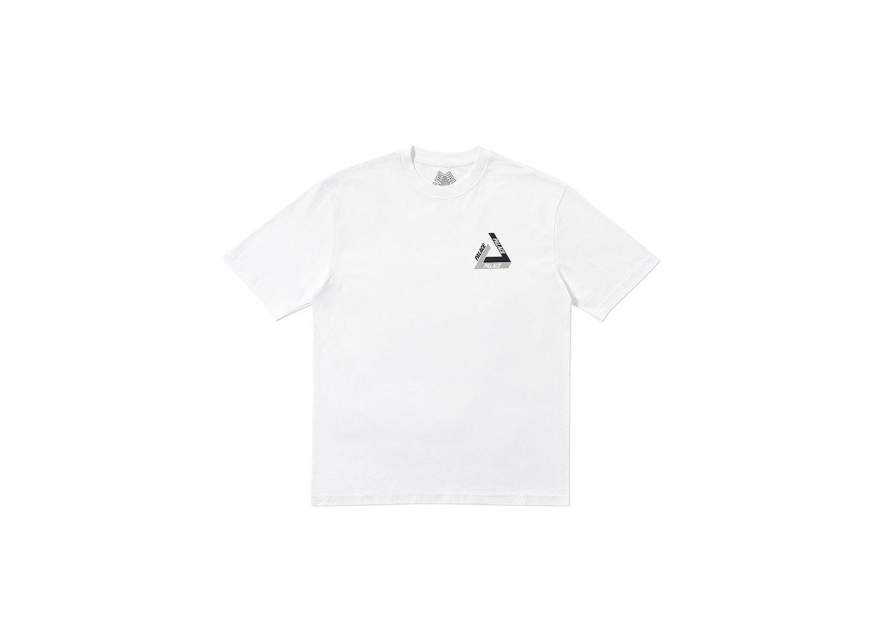 Palace Tri-Shadow T-Shirt White/Grey
