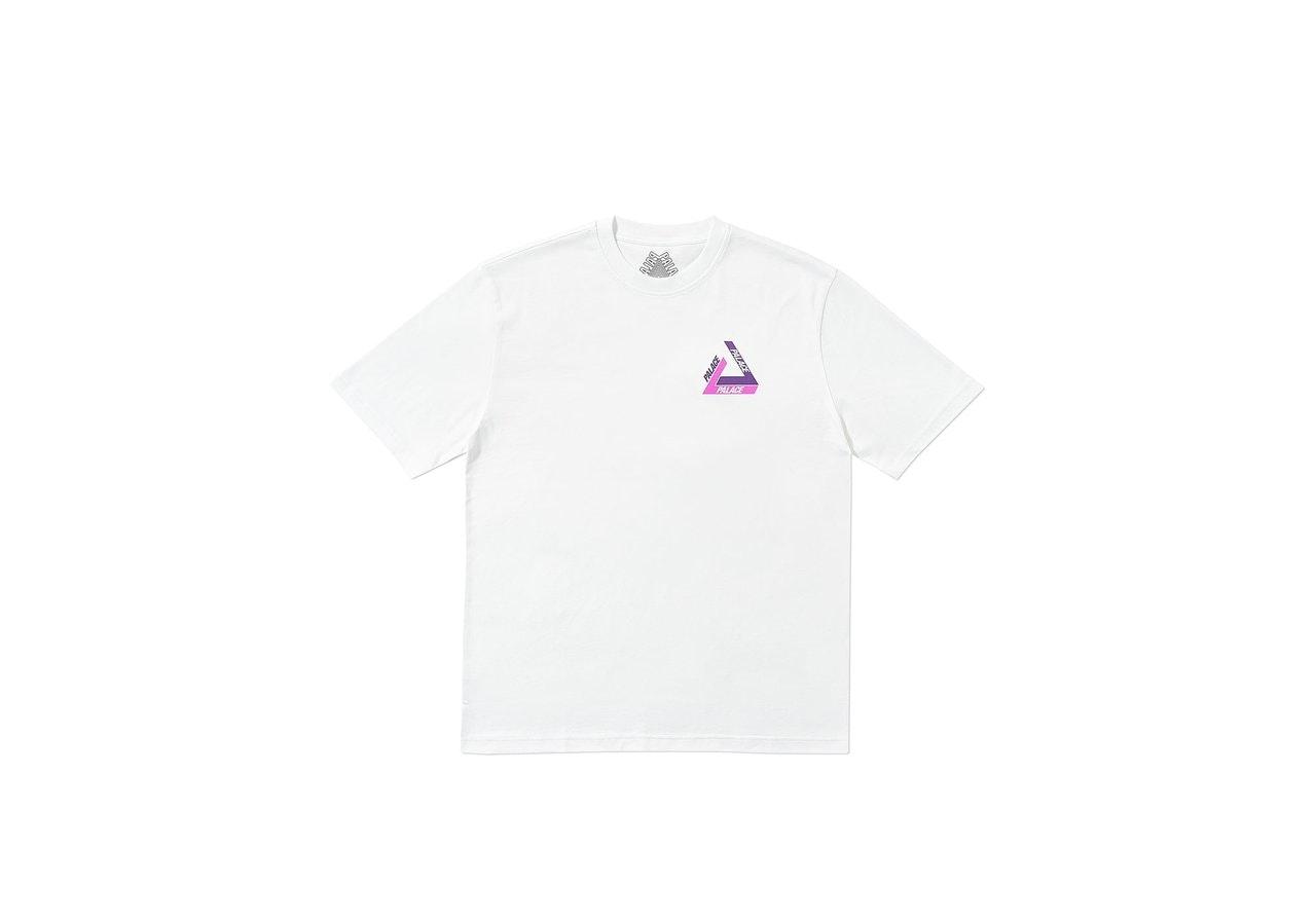 Palace Tri-Shadow T-Shirt White/Purple
