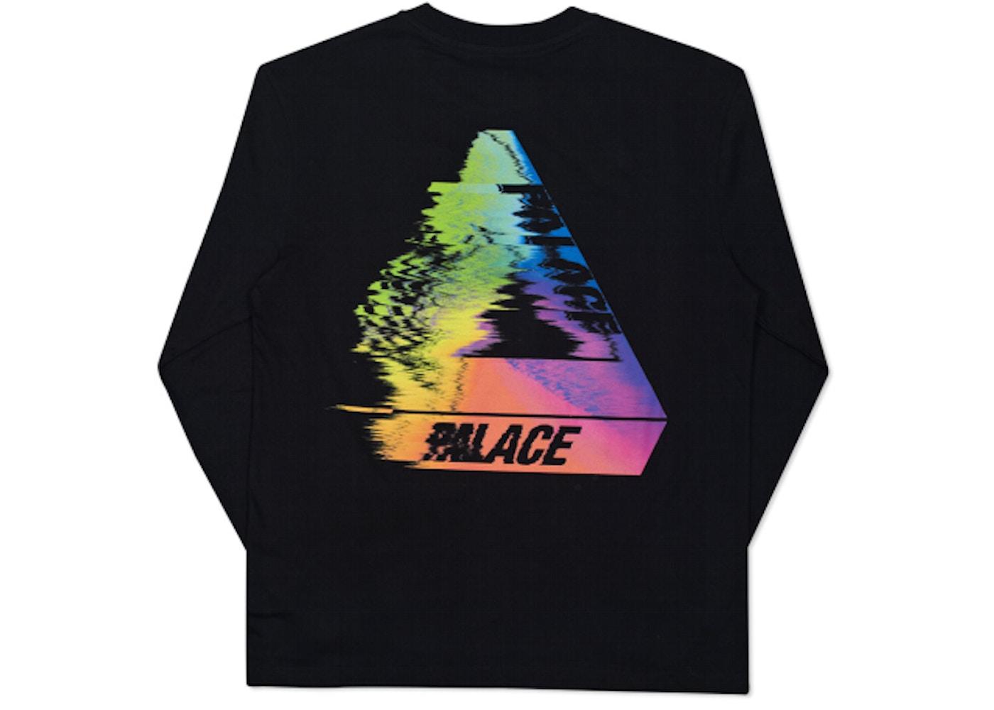 f67daa04 Palace Tri-Smudge L/S T-Shirt Black - Summer 2016