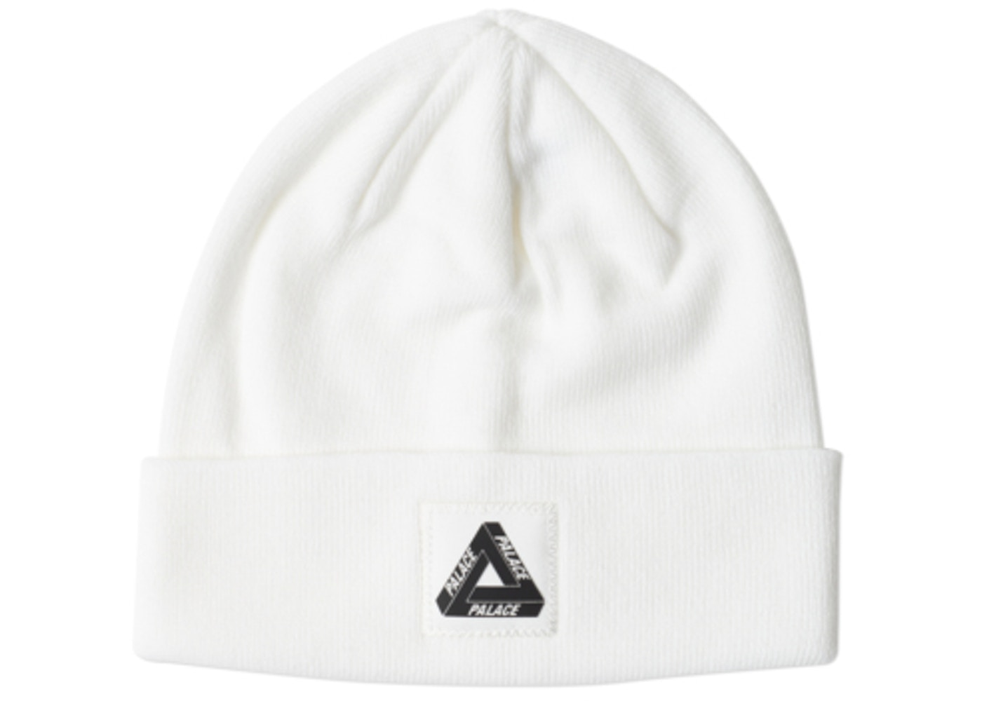8f15c033446 Palace Triferg Patch Beanie White • Buy or Sell on StockX
