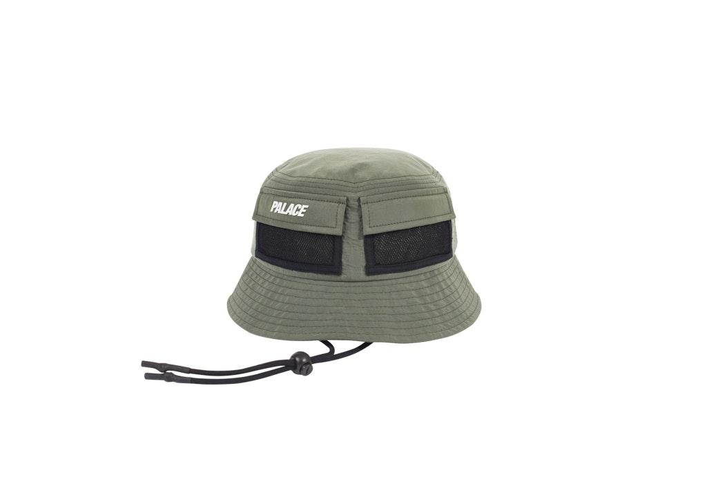 Palace Utility Shell Bucket Hat Olive