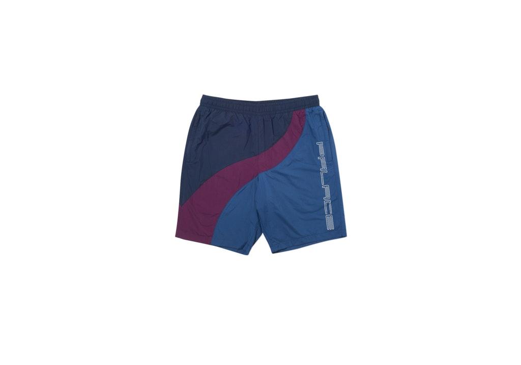 Palace Wave Runner Shell Shorts Grey/Plum/Navy