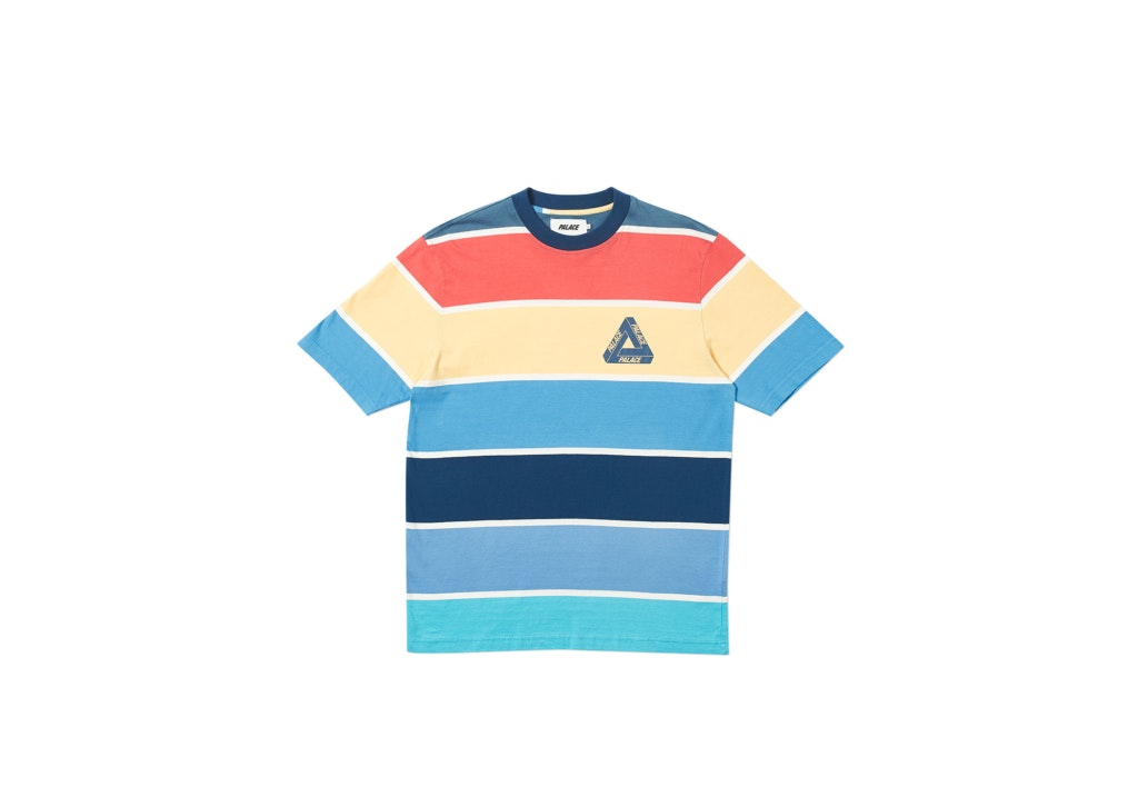 Palace Wide On T-Shirt Blue