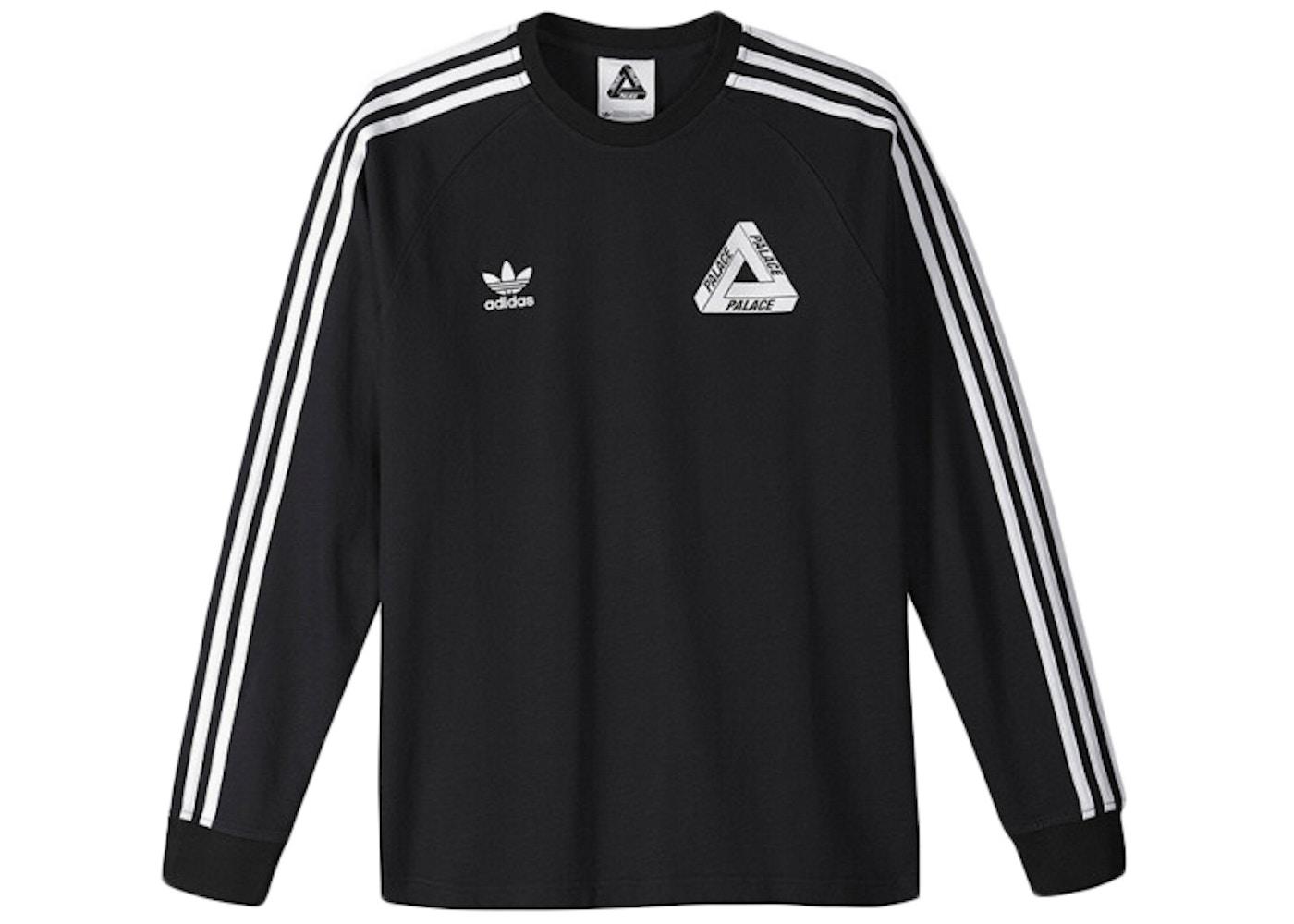 f8ca0c0fbcdb9 Palace adidas Longsleeve Team Shirt Black - SS15