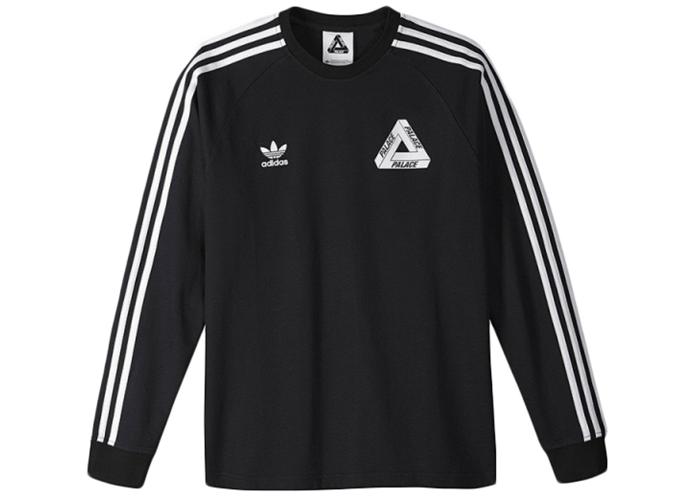 amanecer vídeo irregular  Palace adidas Longsleeve Team Shirt Black - SS15