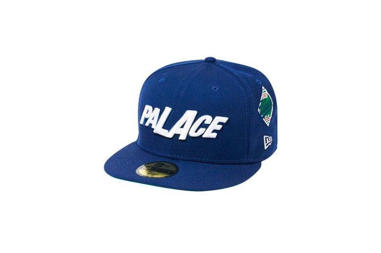Palace x New Era LA Fitted Hat Blue