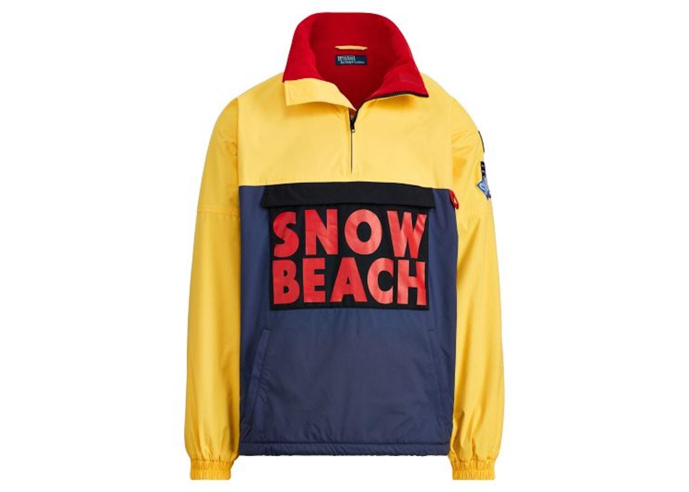 734c74a51793e Polo Ralph Lauren Snow Beach Pullover Deep Water Chrome Yellow - FW17