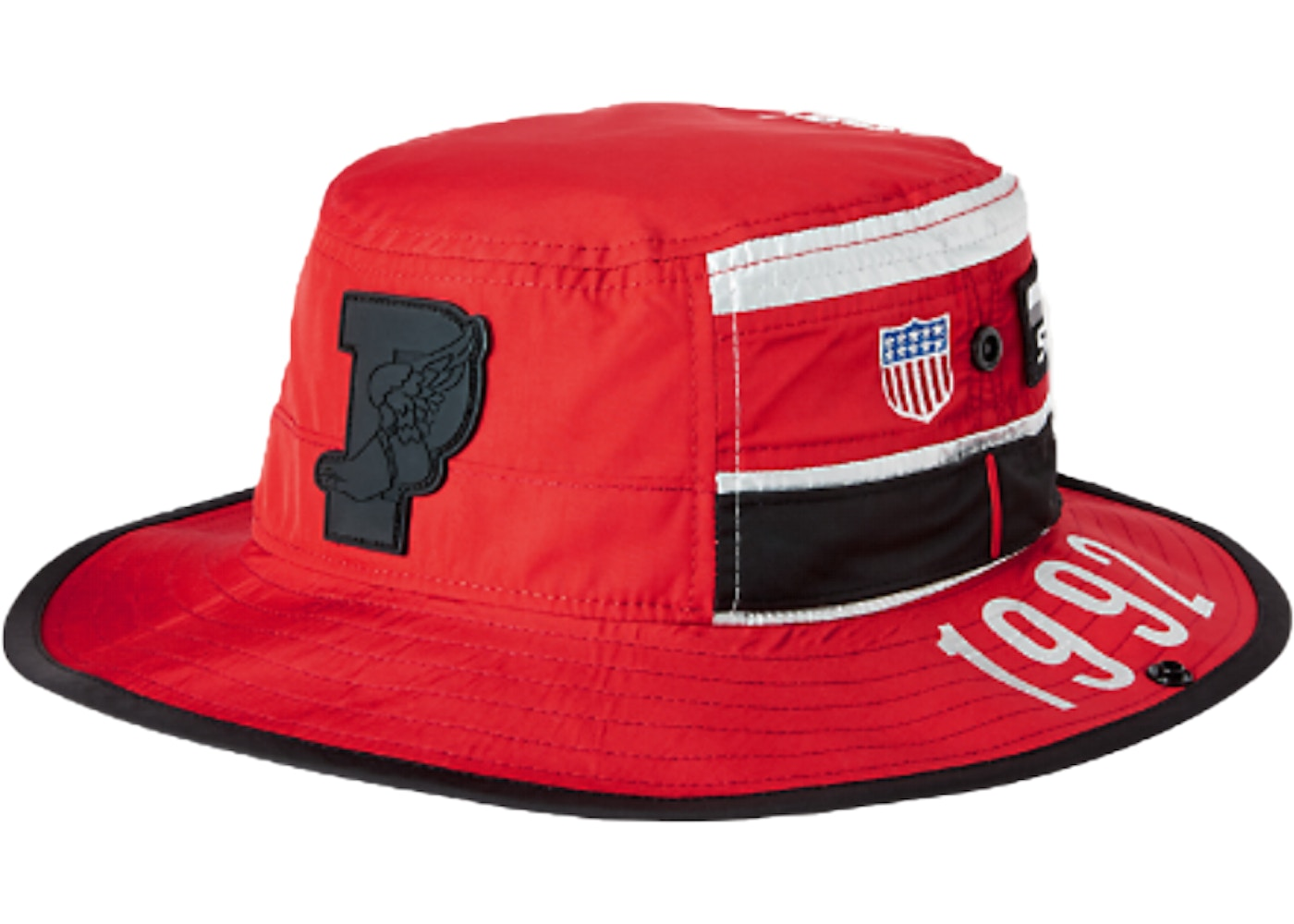 Polo Ralph Lauren Stadium Boonie Hat Injection Red Silver - FW18 9cfec885afe