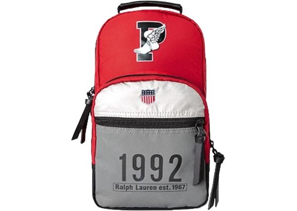 8a30ac9943df Polo Ralph Lauren Winter Stadium Crossbody Bag Red Black - FW18