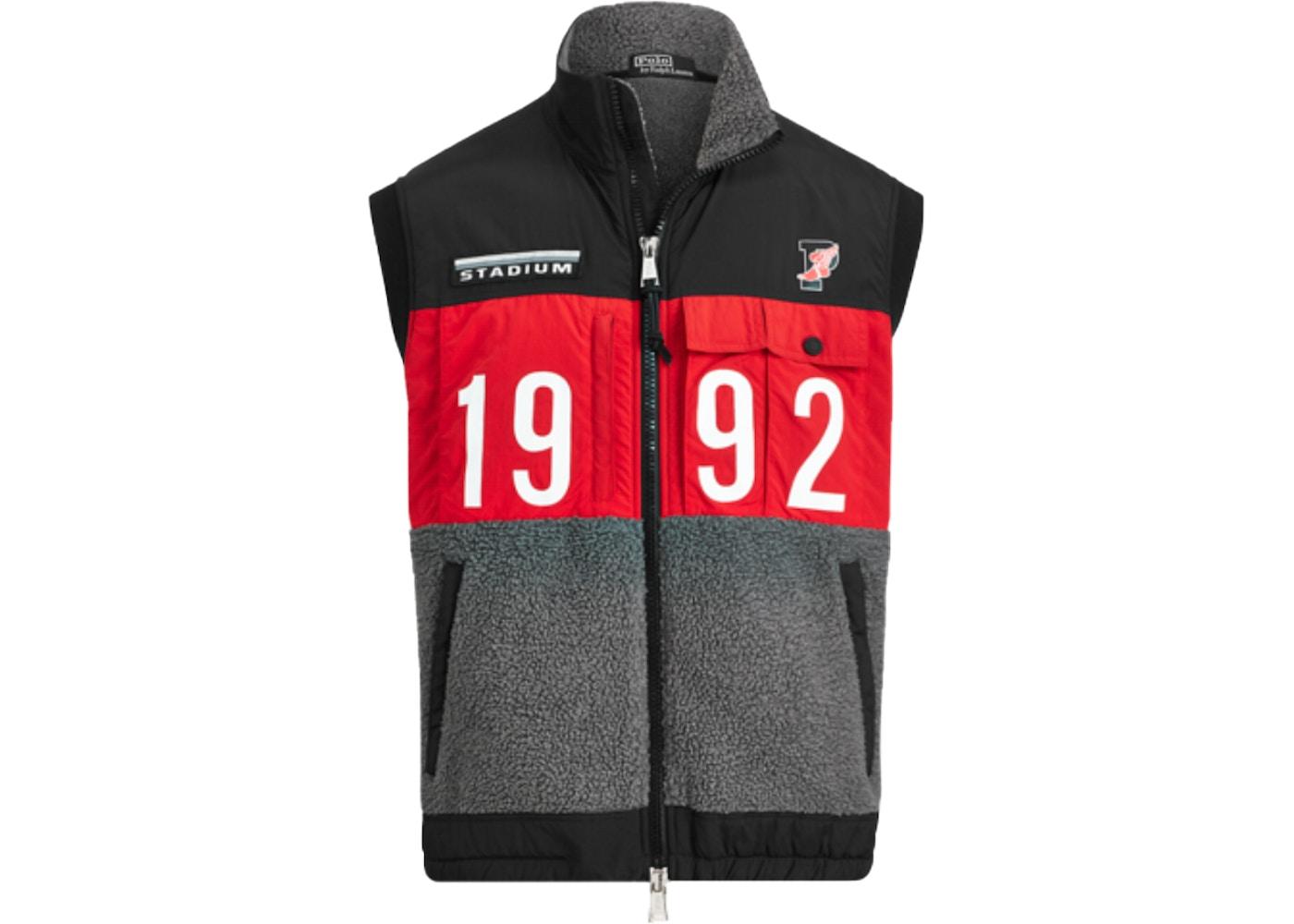 Hybrid Polo Ralph Winter Vest Black Lauren Stadium Multi E9DHW2I