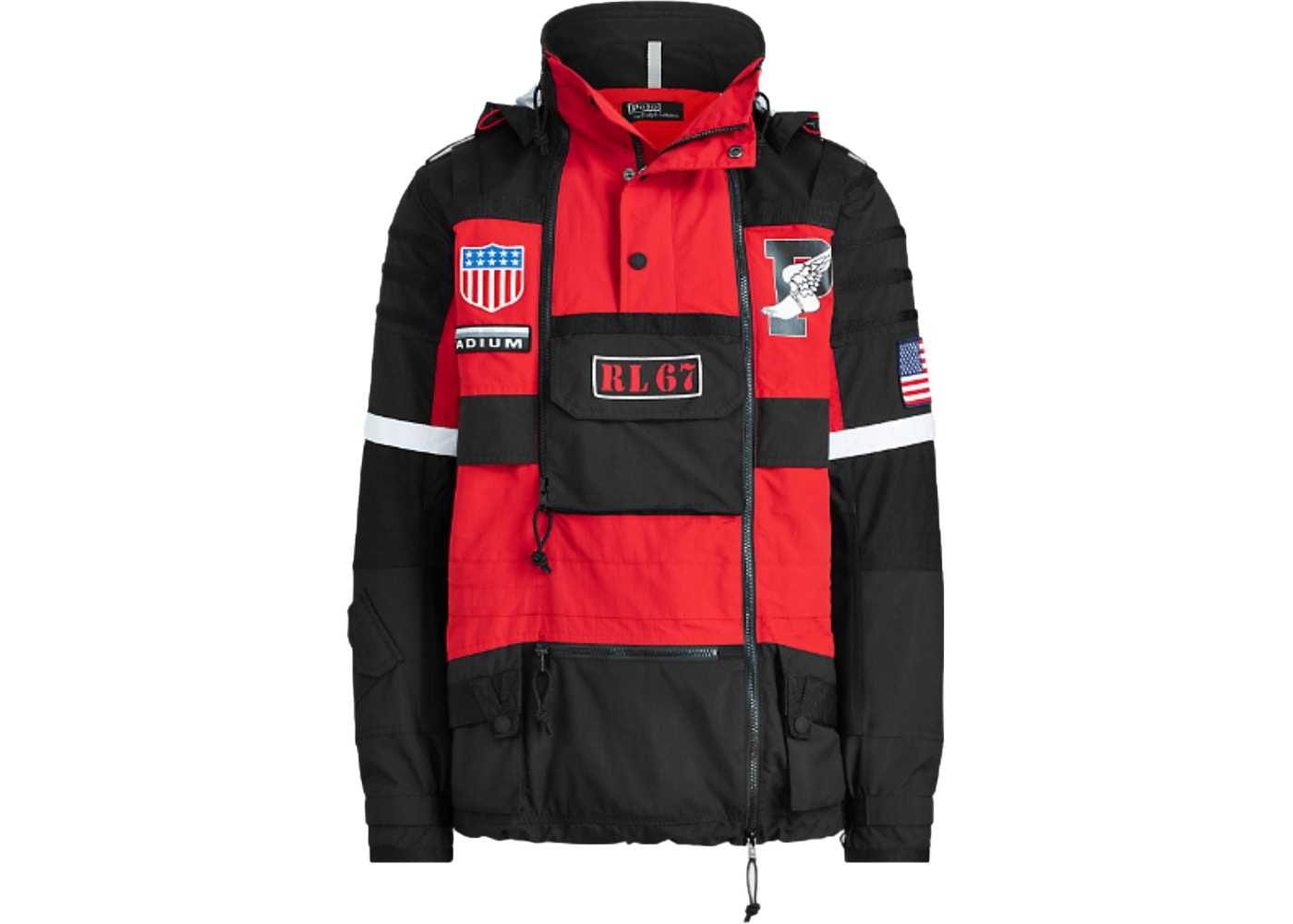 3f90f92951 Polo Ralph Lauren Winter Stadium Jacket Injection Red/Polo Black - FW18
